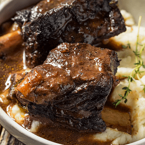 braised short rib dinner